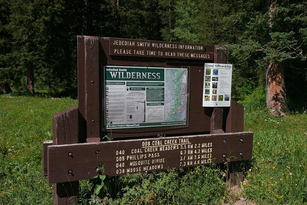 Jedediah Smith Wilderness Sign