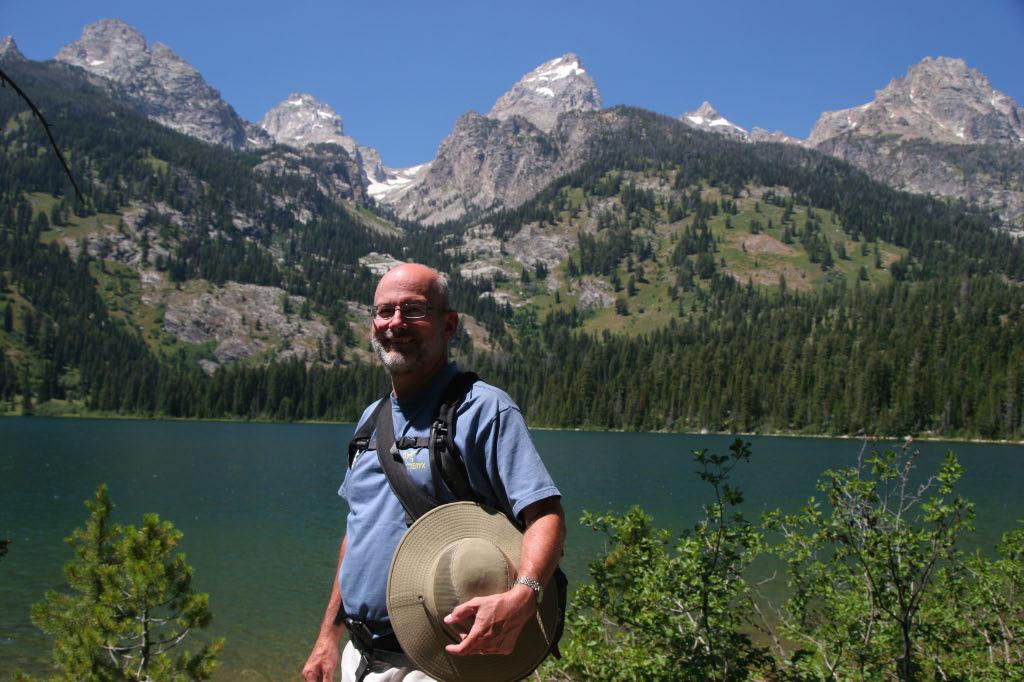 Me, with dry feet at Bradley Lake
