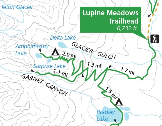 The Lupine Meadows Trailhead
