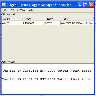 FileAgent - Watching a File